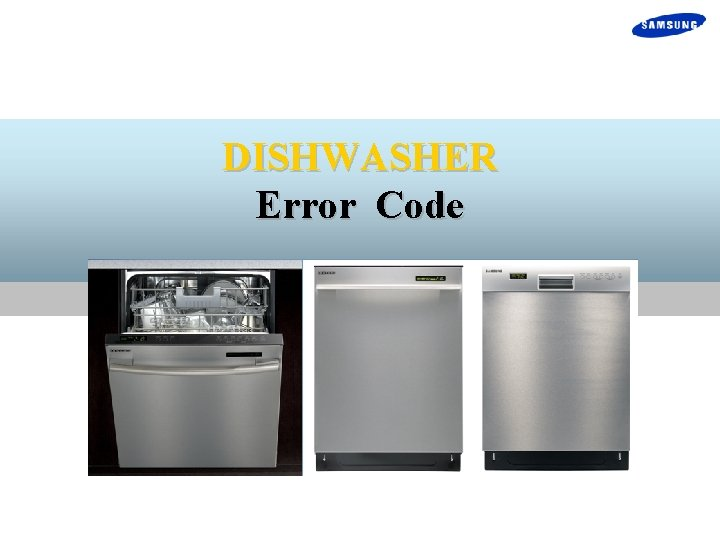 DISHWASHER Error Code Product Introduction Product Specification Product