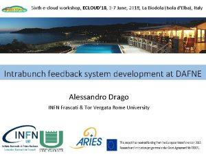 Sixth ecloud workshop ECLOUD18 3 7 June 2018