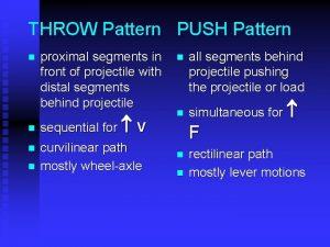 THROW Pattern PUSH Pattern n n proximal segments