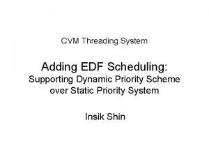 CVM Threading System Adding EDF Scheduling Supporting Dynamic