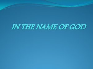 IN THE NAME OF GOD Case report 35