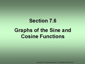 Section 7 6 Graphs of the Sine and