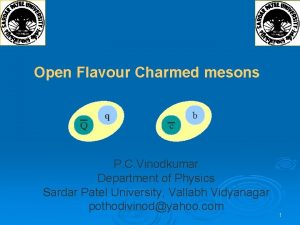 Open Flavour Charmed mesons Q q c b