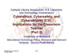 Catholic Library Association K8 Librarians and Technology Coordinators