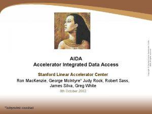 Stanford Linear Accelerator Center Ron Mac Kenzie George