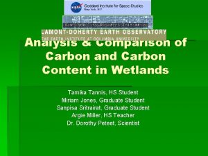 Analysis Comparison of Carbon and Carbon Content in