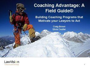 o Coaching Advantage A Field Guide Building Coaching