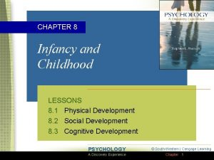 CHAPTER 8 Infancy and Childhood LESSONS 8 1