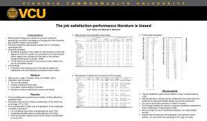 The job satisfactionperformance literature is biased Sven Kepes