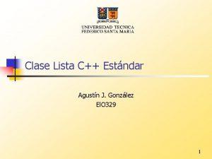 Clase Lista C Estndar Agustn J Gonzlez El