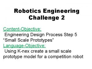 Robotics Engineering Challenge 2 ContentObjective Engineering Design Process