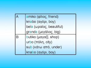 A B amiko friend knabo boy bela beautiful