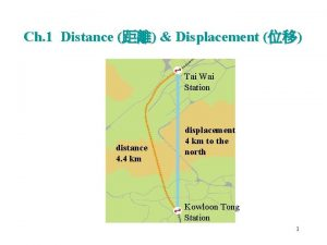 Ch 1 Distance Displacement Tai Wai Station distance