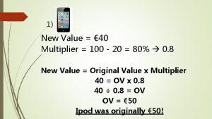 1 New Value 40 Multiplier 100 20 80