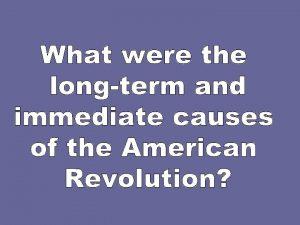 Historical Thinking Skills Chronological Reasoning Historical causation Historical