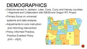 Districts served in Jackson Lake Coos Curry and