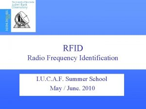 RFID Radio Frequency Interference Detection Frequency Identification I