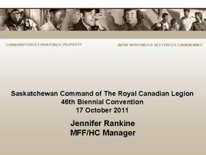 CANADIAN FORCES NONPUBLIC PROPERTY BIENS NON PUBLICS DES
