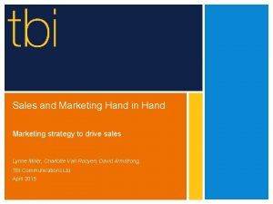 Sales and Marketing Hand in Hand Marketing strategy