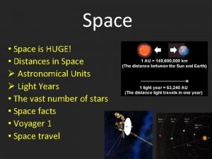 Space Space is HUGE Distances in Space Astronomical