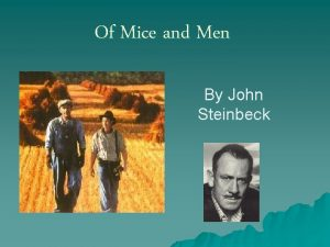 Of Mice and Men By John Steinbeck Mural