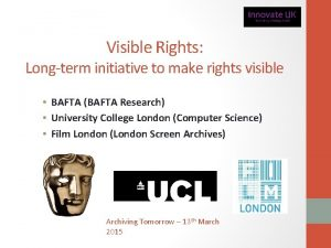 Visible Rights Longterm initiative to make rights visible