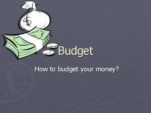Budget How to budget your money Budget Busters