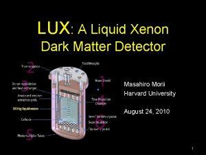 LUX A Liquid Xenon Dark Matter Detector Masahiro