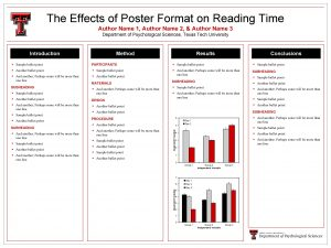 The Effects of Poster Format on Reading Time
