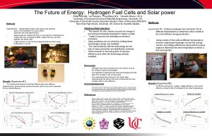 The Future of Energy Hydrogen Fuel Cells and