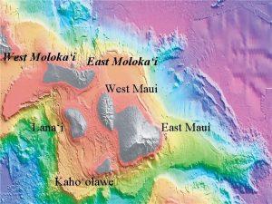 West Molokai East Molokai West Maui Lanai Kahoolawe