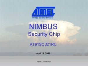 NIMBUS Security Chip AT 91 SC 321 RC