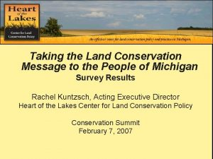 Second Annual Summit Taking the Land Conservation Message