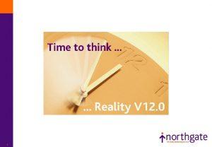 1 Reality V 12 Reality V 12 Headlines