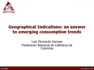 Geographical Indications an answer to emerging consumption trends