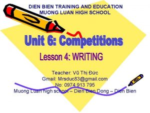 DIEN BIEN TRAINING AND EDUCATION MUONG LUAN HIGH