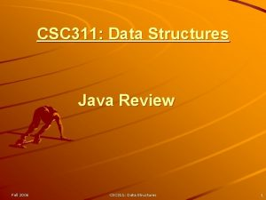 CSC 311 Data Structures Java Review Fall 2006