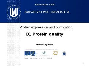 Kd pedmtu C 8980 Protein expression and purification