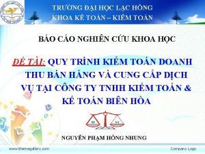 TRNG I HC LC HNG KHOA K TON