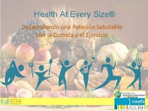 Health At Every Size Desarrollando una Relacin Saludable