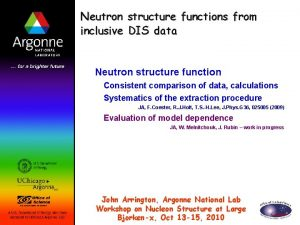 Neutron structure functions from inclusive DIS data Neutron