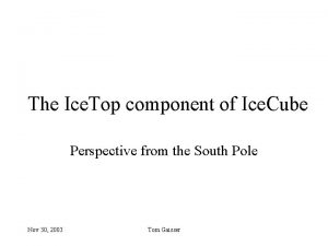 The Ice Top component of Ice Cube Perspective