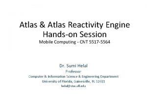 Atlas Atlas Reactivity Engine Handson Session Mobile Computing