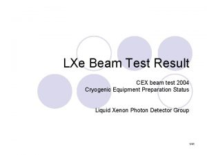 LXe Beam Test Result CEX beam test 2004