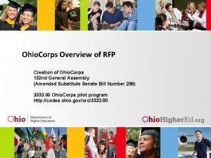 Ohio Corps Overview of RFP Creation of Ohio