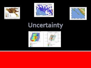 Uncertainty Introducation This chapter talk about uncertainty discusses