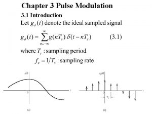 Chapter 3 Pulse Modulation 3 1 Introduction 2