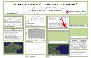Economical Potential of Stranded Natural Gas Hydrates John