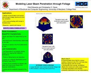 Modeling Laser Beam Penetration through Foliage The Maryland