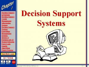 Decision Support in Business Decision Support Trends Management